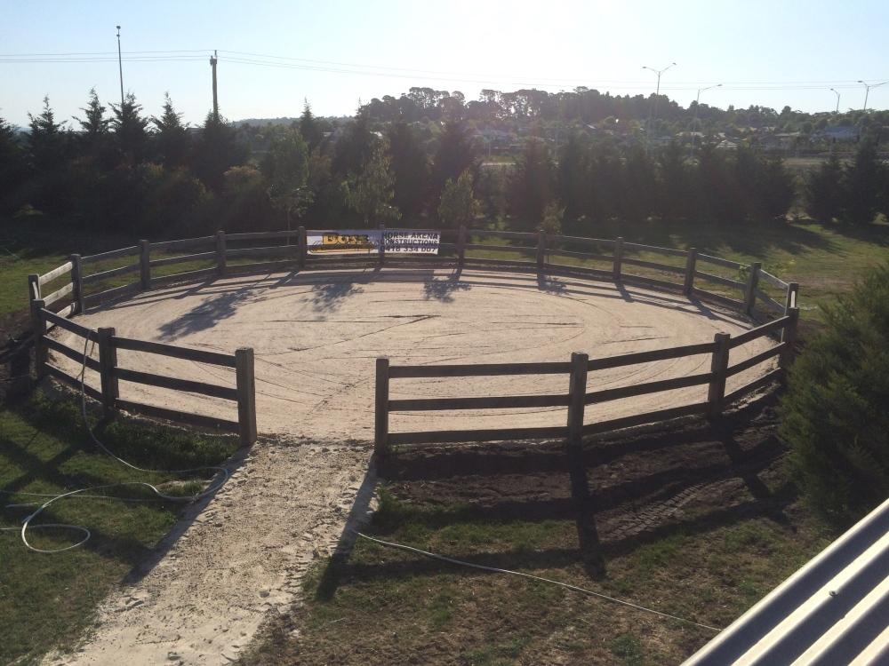 Geotextile round yard