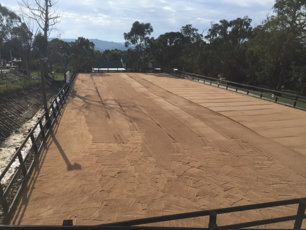 After sand arena was renovated