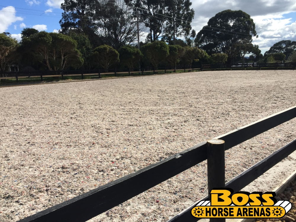 Geotextile horse arena