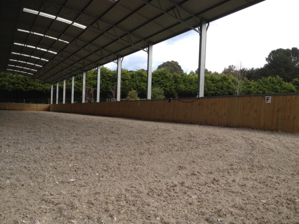 Geotextile indoor arena