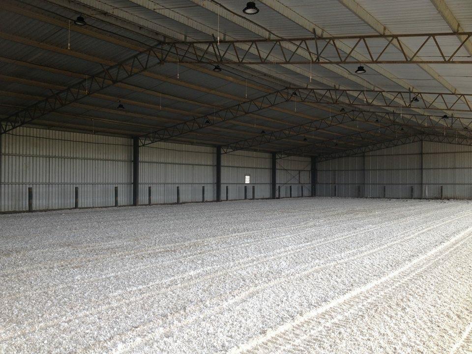 Geotextile indoor horse arena