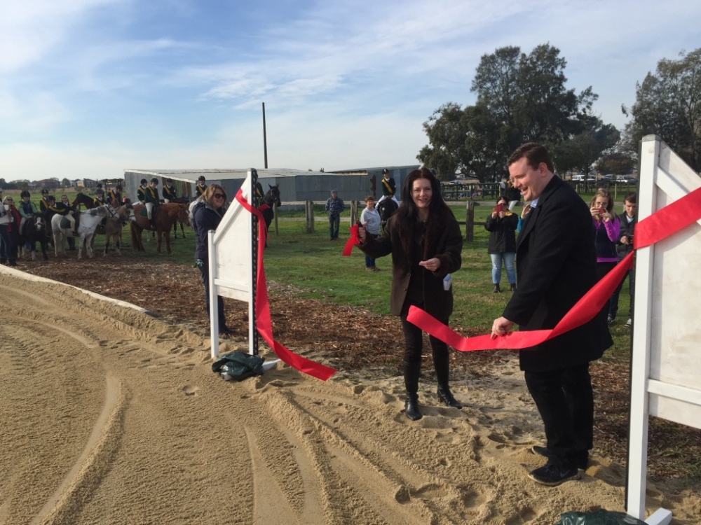 Opening of pony club sand horse arena