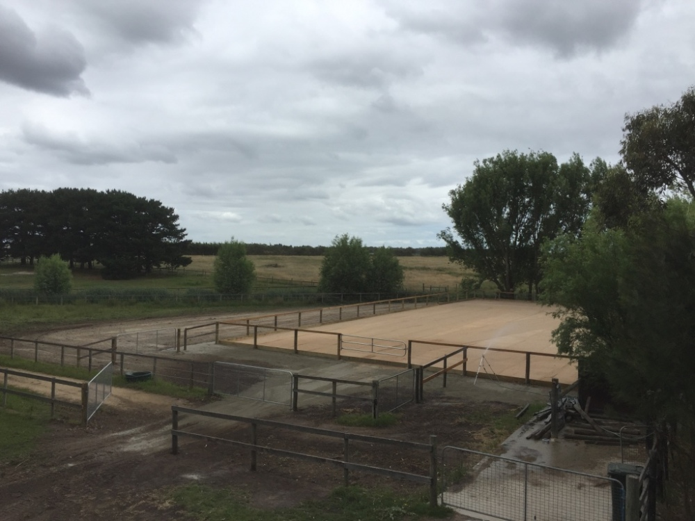 Sand horse riding arena