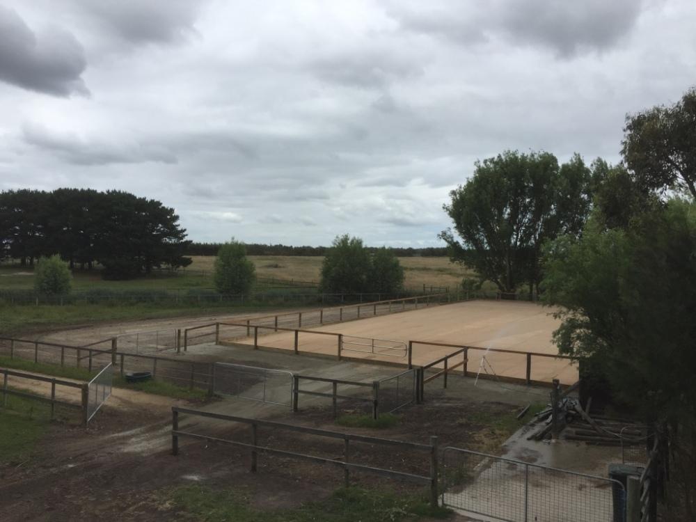 Sand horse riding arena