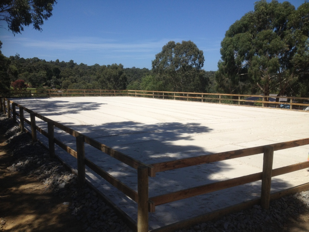 Sand surface horse arena