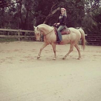 Mallory & Montana enjoying their sand Boss Horse Arena