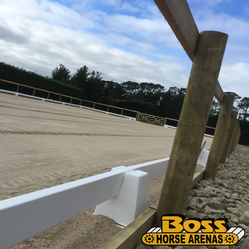 Portable dressage arena fencing