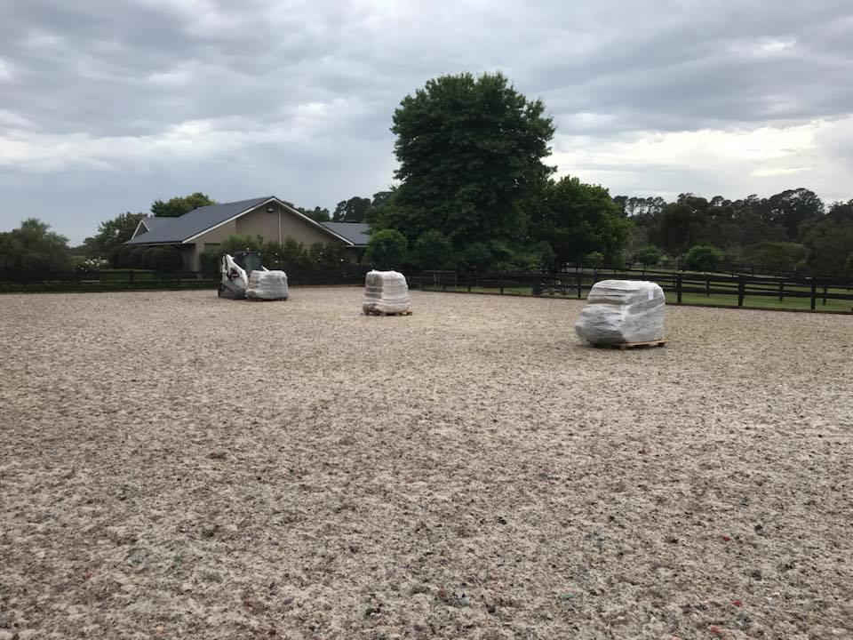 Boss Geotextile Fibres delivered to Horse Arena
